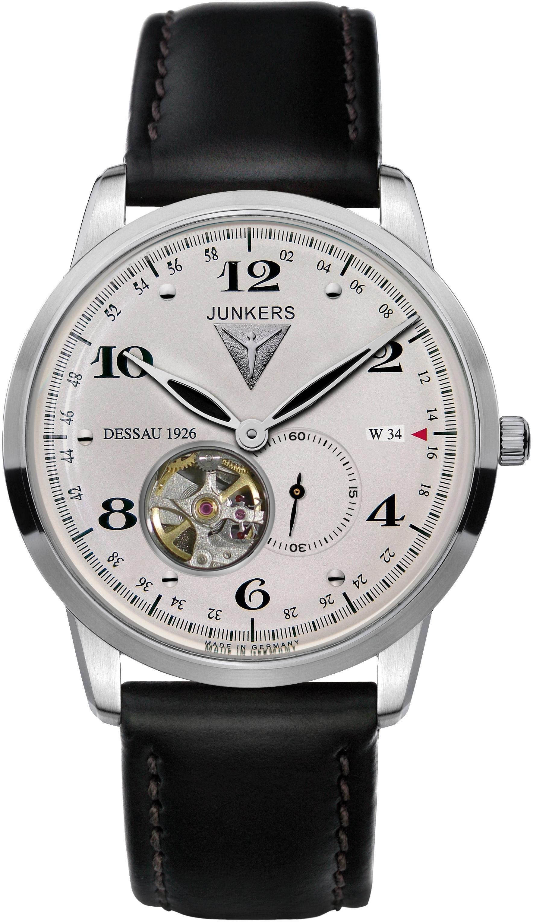 Junkers-Uhren Automatikuhr Junkers Dessau 1926 Flatline 6360-4