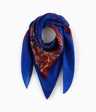 Karo-Schal mit Print