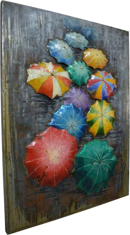 """Kayoom Wandbild """"Metall Regenschirme"""", 75cm x 100cm"""