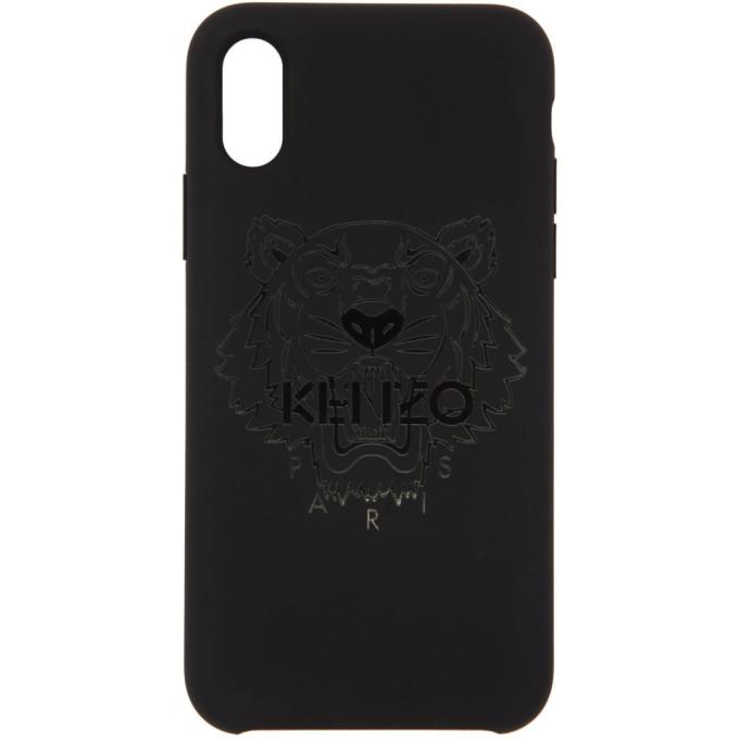 Kenzo Black Tonal Tiger iPhone X Case