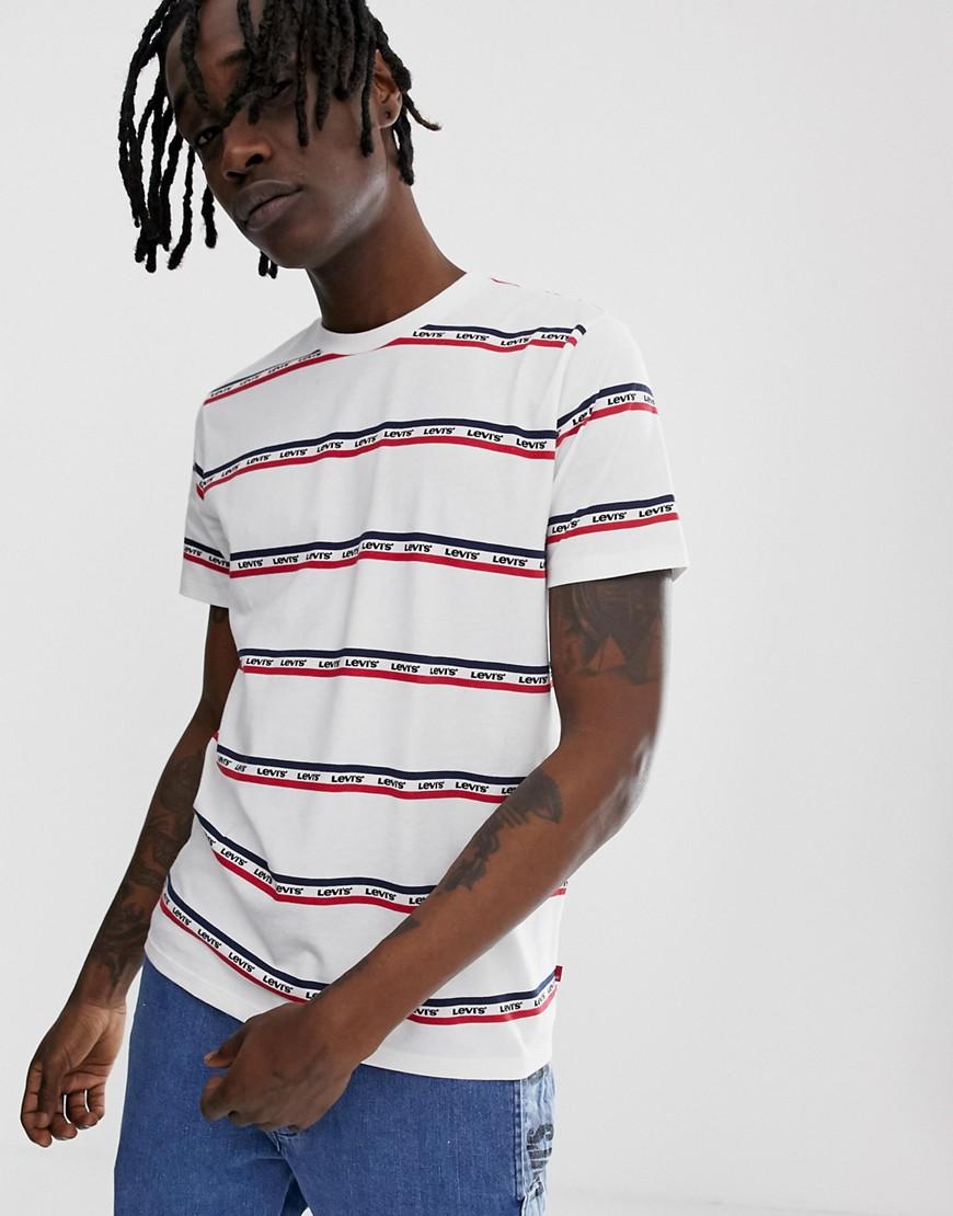 Levi's - Sunset Sportwear - Bedrucktes T-Shirt mit Tasche - Weiß