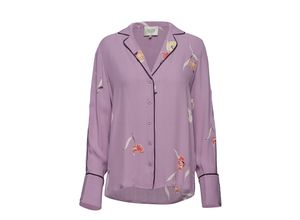 Lissa Shirt Bluse Langärmlig Lila SECOND FEMALE