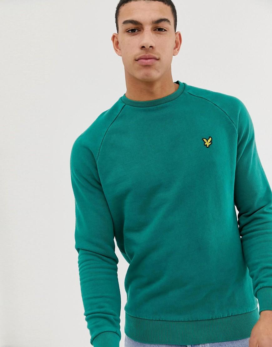 Lyle & Scott - Grünes Sweatshirt mit Snow-Waschung - Grün