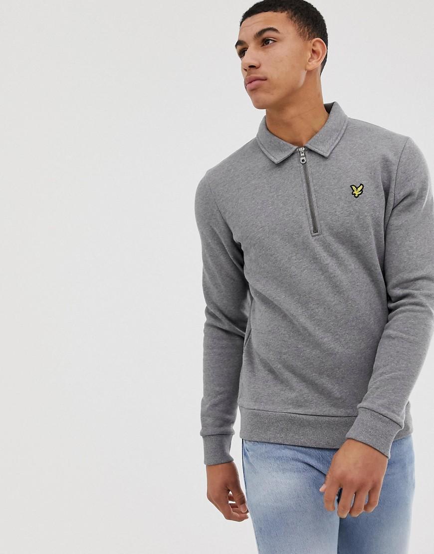 Lyle & Scott - Graues Sweatshirt mit 1/4 langem Reißverschluss - Grau
