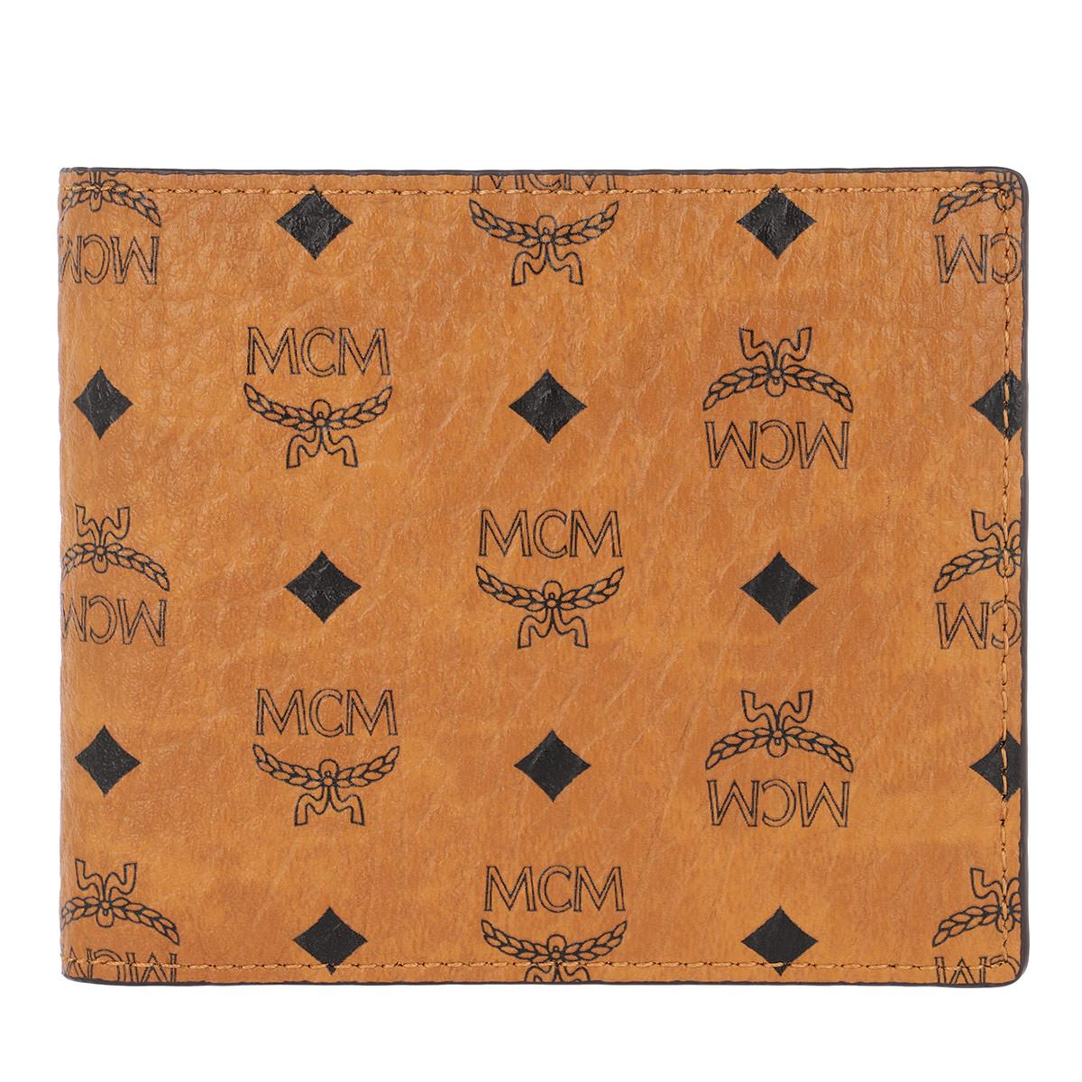 MCM Portemonnaie - Visetos Original Flap Wallet Small Cognac - in cognac - für Damen