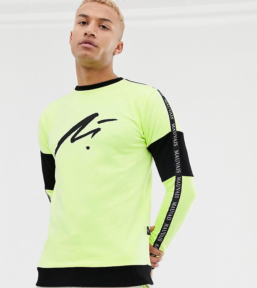 Mauvais - Muskel-Sweatshirt mit Logo und Zierband - Gelb