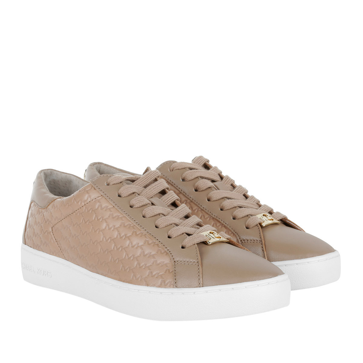 Michael Kors Sneakers - Colby Sneaker Embossed Leather Dark Khaki - in braun - für Damen