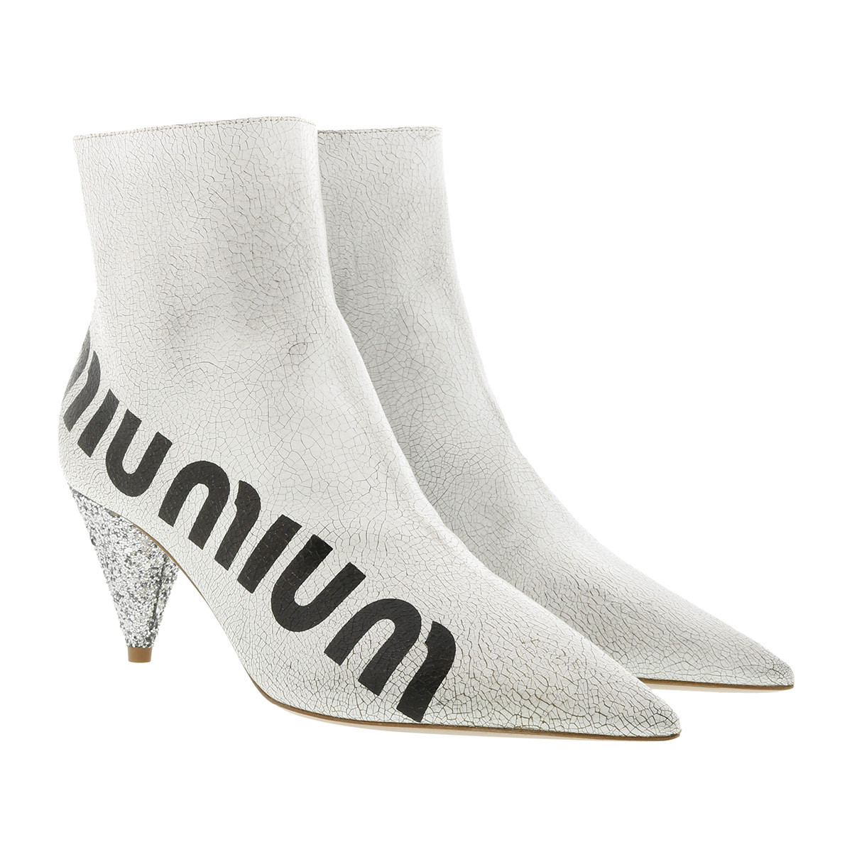 Miu Miu Boots - Casual Style Ankle Boots White/Silver - in weiß - für Damen