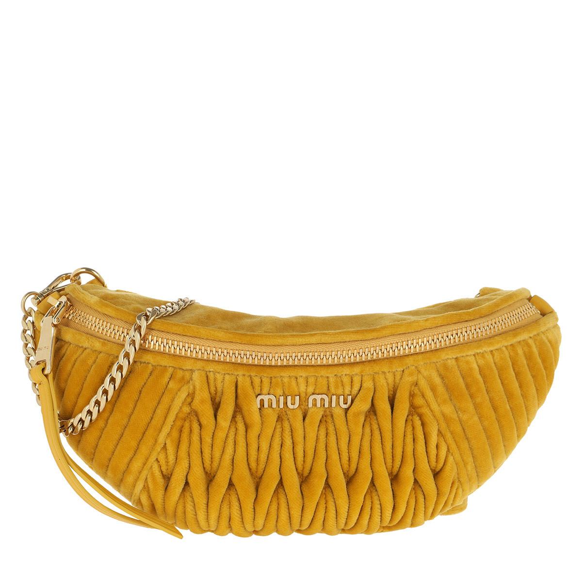 Miu Miu Gürteltasche - Velvet Belt Bag Senape - in gelb - für Damen