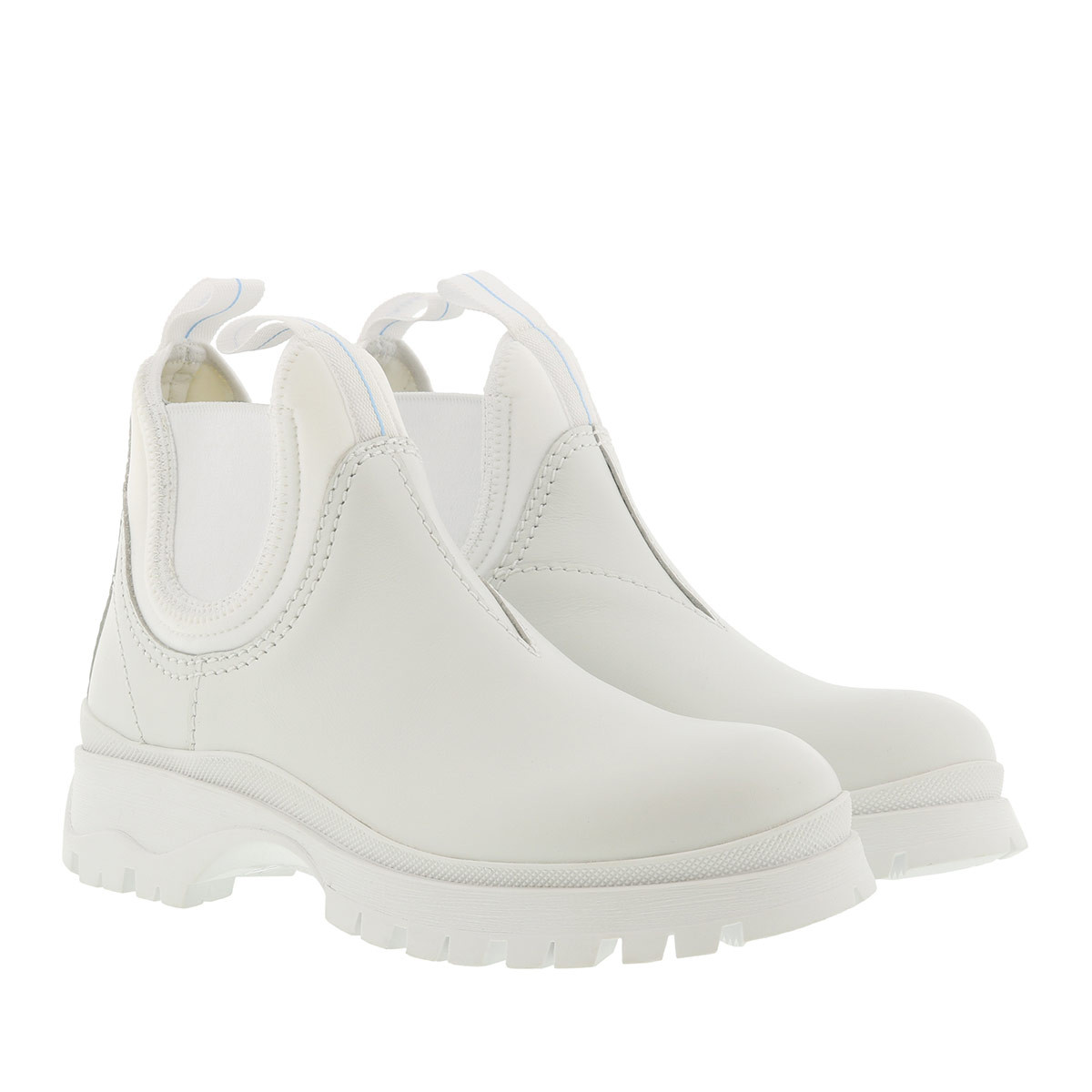 Prada Boots - Booties Calf Leather White - in weiß - für Damen