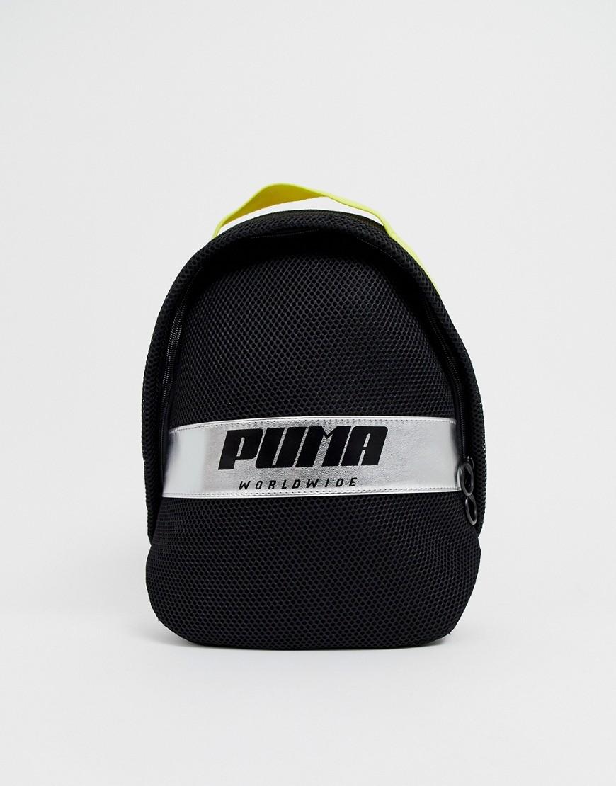 Puma - Prime Street Archive - Schwarzer Rucksack mit Netzeinsätzen - Schwarz