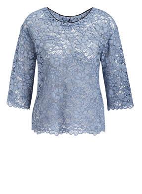 Shirtaporter Spitzenbluse blau