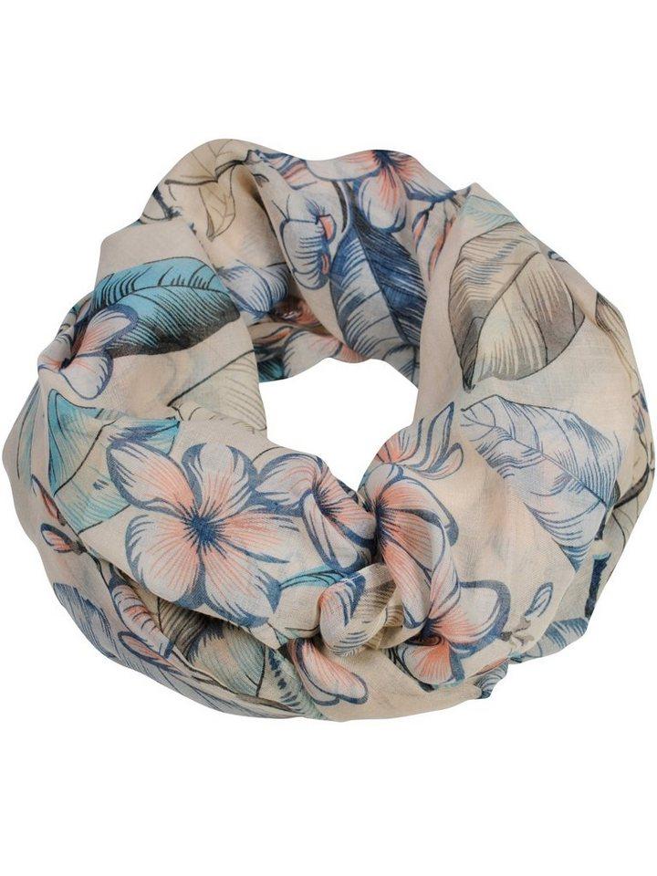 """Simone Erto Modeschal """"Birte Blumen"""" Loop mit tollem Blumen Motiv"""