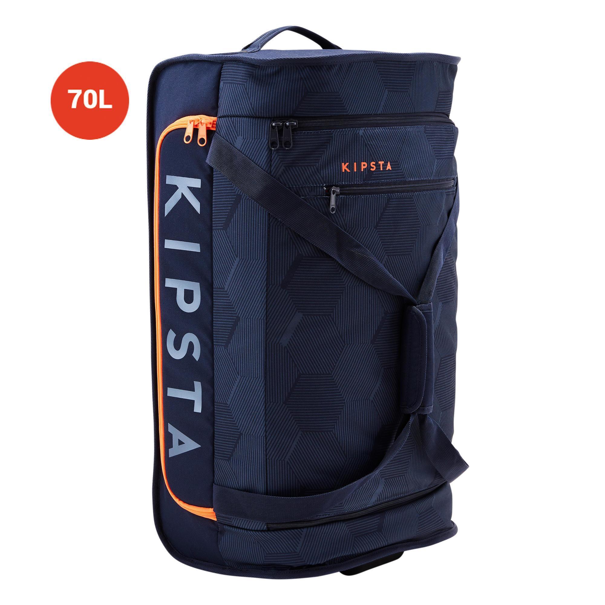 Sporttasche Classic 70 Liter Trolley blau/orange