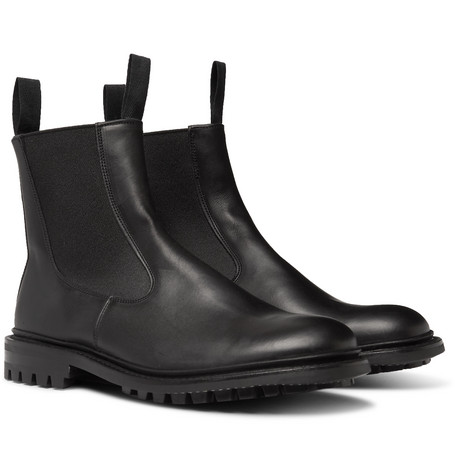 Stephen Leather Chelsea Boots - Black