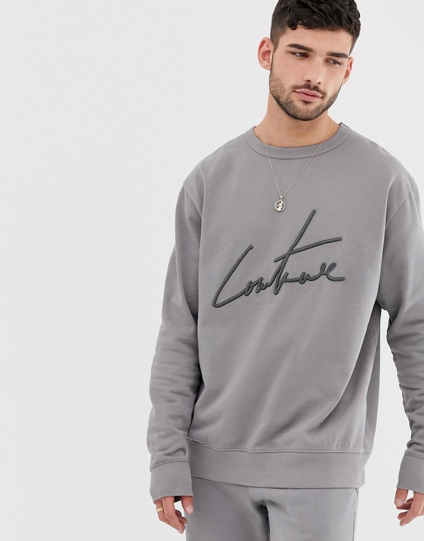 The Couture Club - Essential - Graues Sweatshirt - Grau