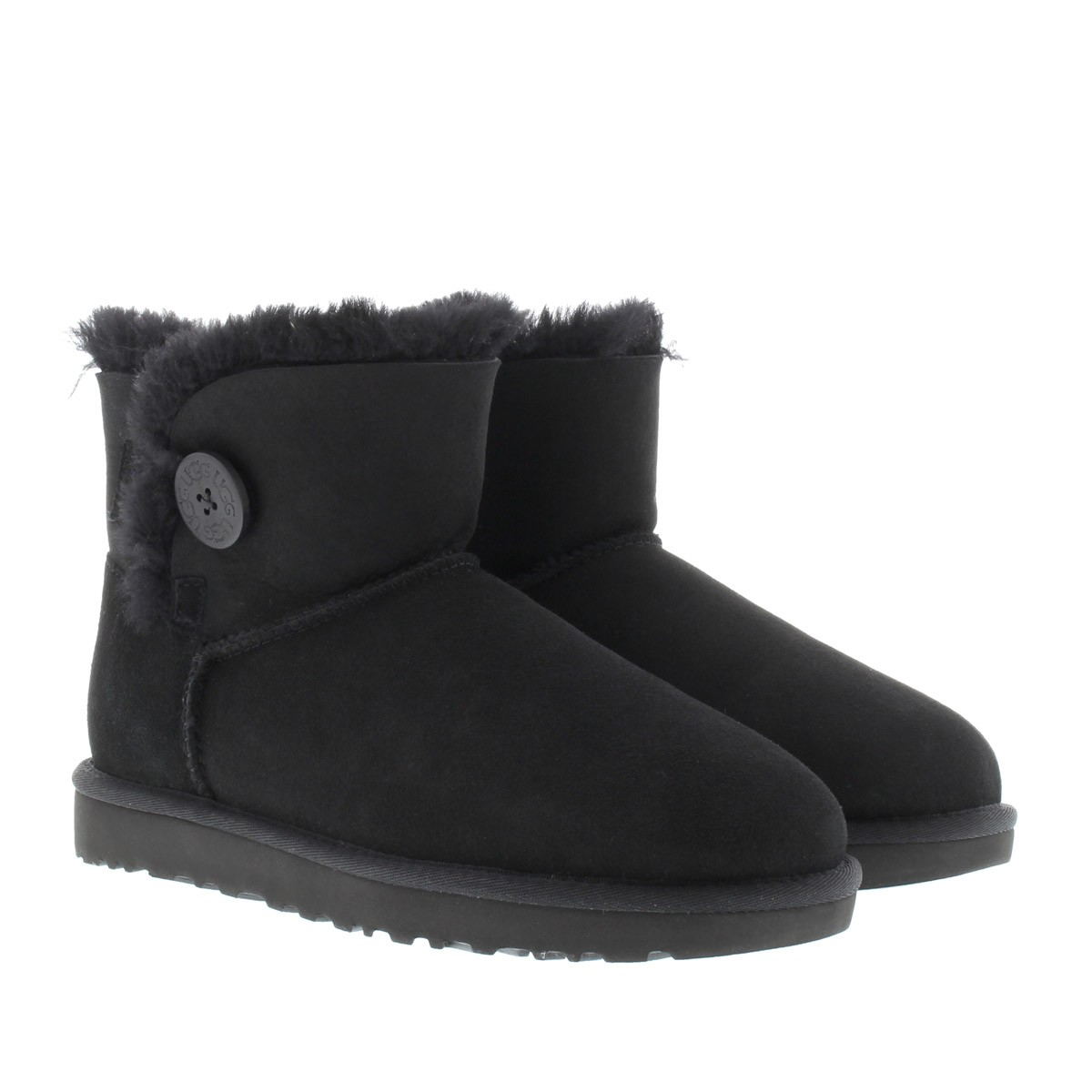 UGG Boots - W Mini Bailey Button II Black - in schwarz - für Damen
