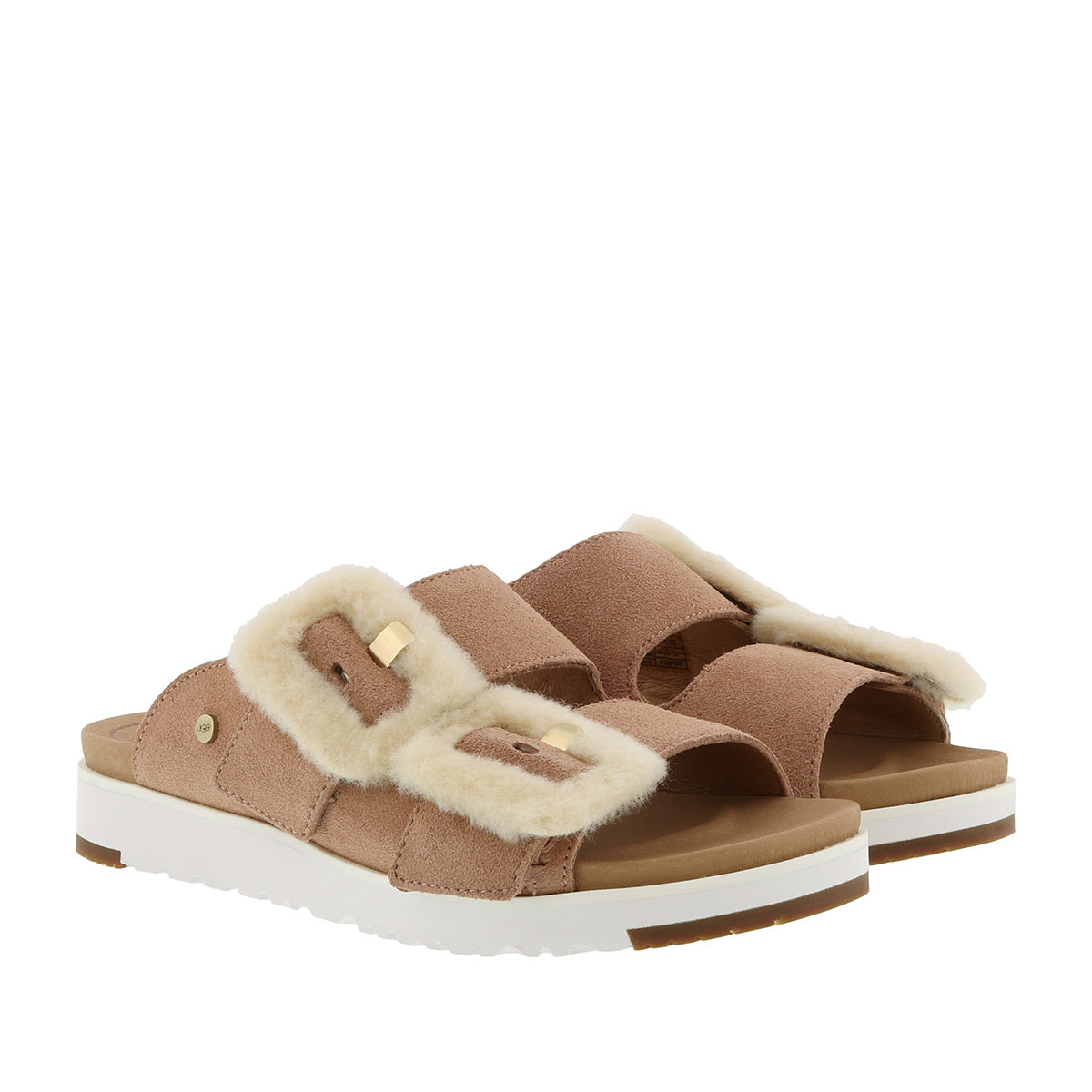 UGG Sandalen - W Fluff Indio Sandals Arroyo - in braun - für Damen