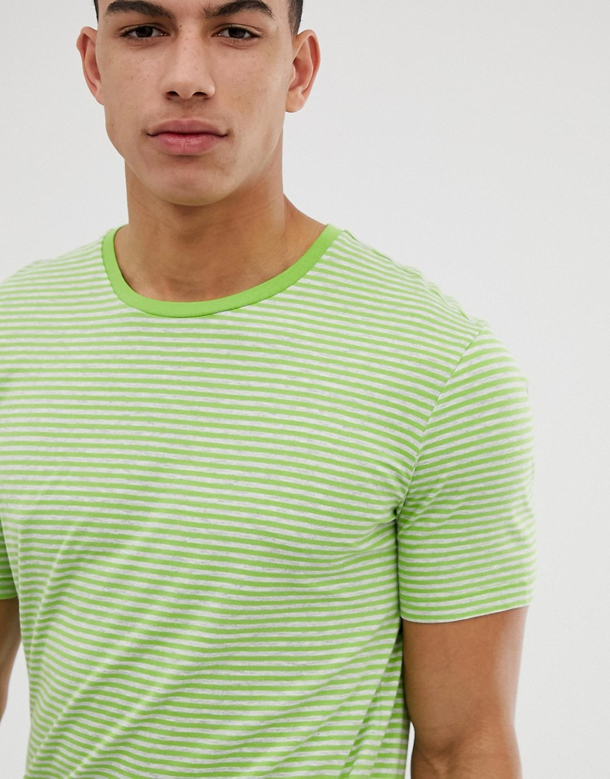 United Colors Of Benetton - Gestreiftes T-Shirt in Grün - Grün