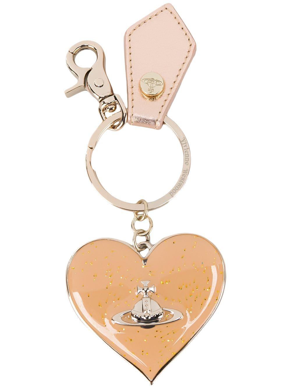 Vivienne Westwood Schlüsselanhänger mit Herzmotiv - Metallisch