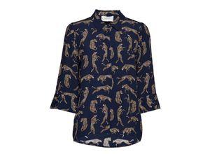Welis Shirt Bluse Langärmlig Blau JUST FEMALE
