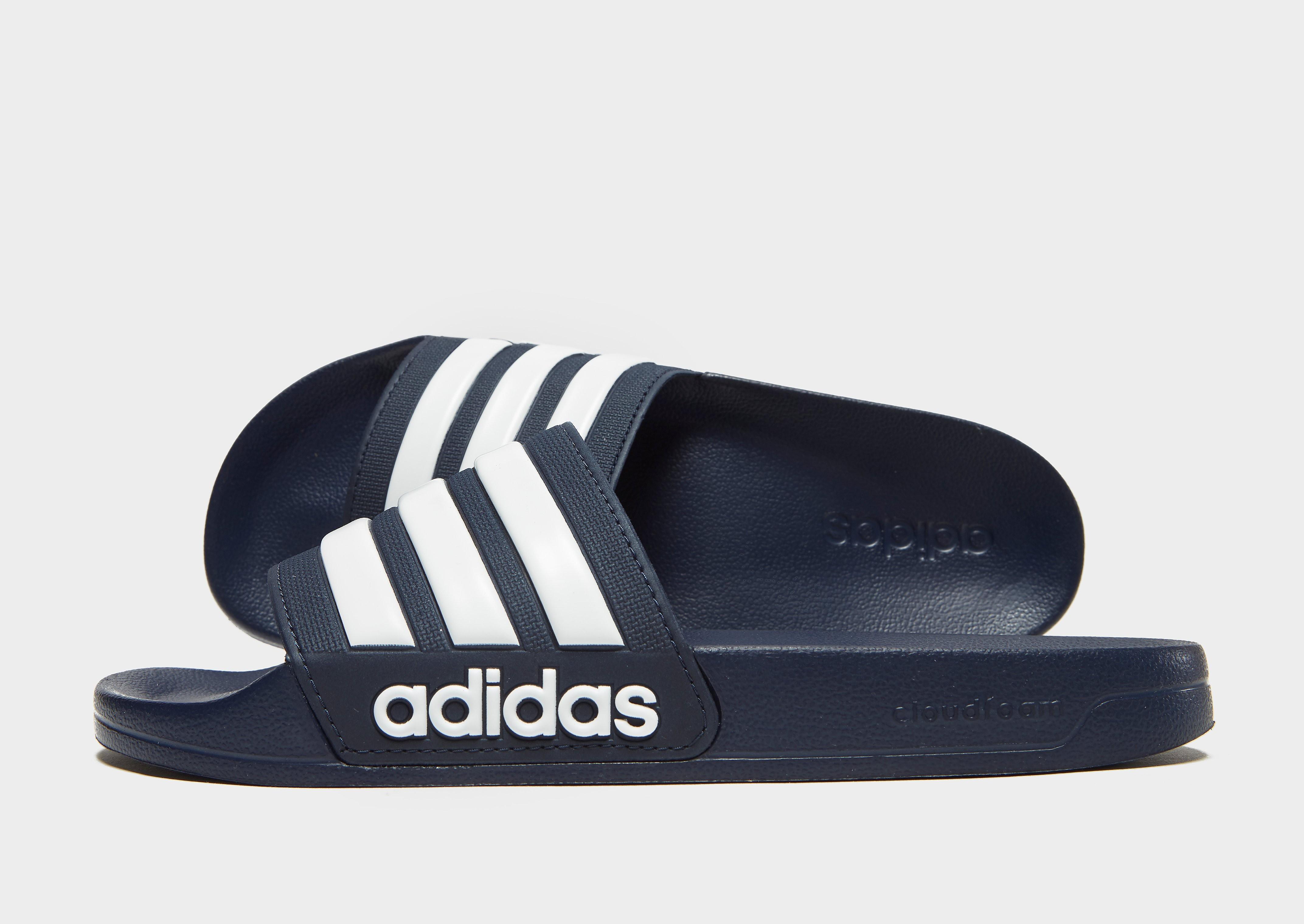 adidas Cloudfoam Adilette Slides - Blau - Mens, Blau