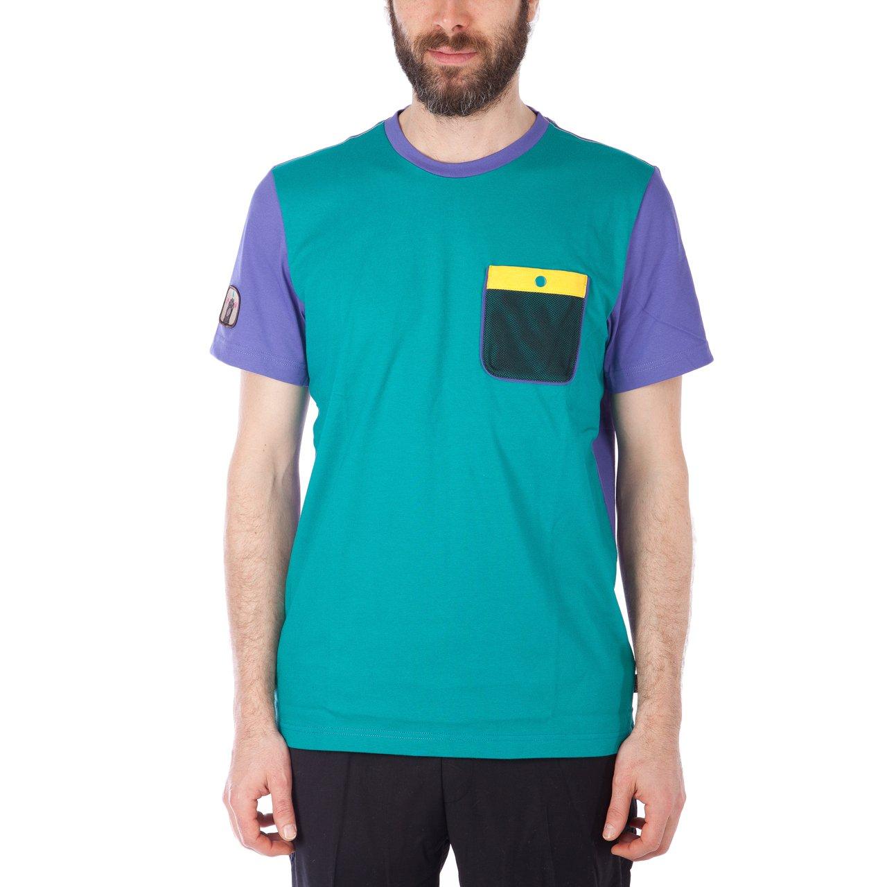 adidas x Pharrell Williams HU Hiking Tee (Purple / EQT Grün)