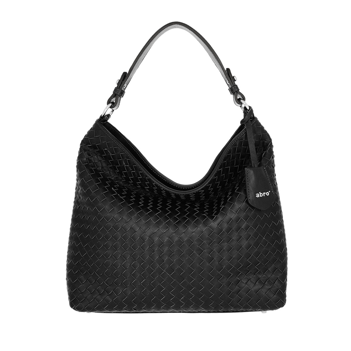 Abro Hobo Bag - Piuma Woven Hobo Bag Black/Nickel - in schwarz - für Damen