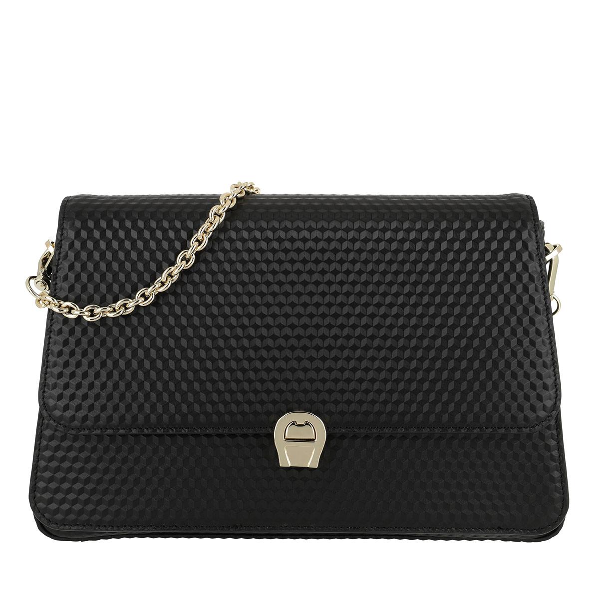Aigner Umhängetasche - Genoveva M Crossbody Bag Black - in schwarz - für Damen