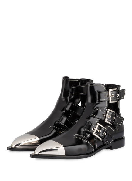 Alexander Mcqueen Biker-Boots schwarz