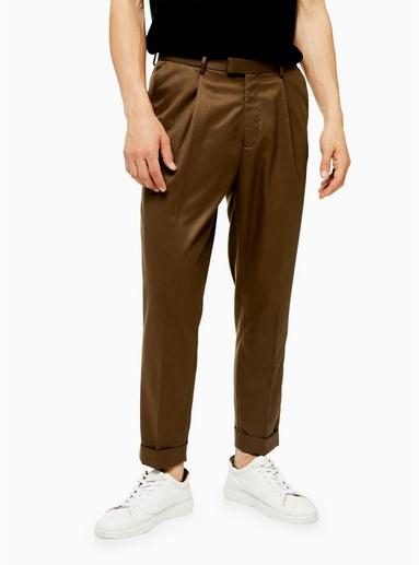 BRAUNEng geschnittene Hose mit Umschlag, camel, BRAUN