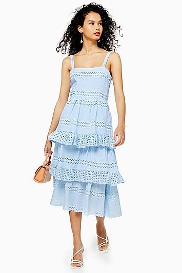 **Bedrucktes Kleid von Lace & Beads - Blau
