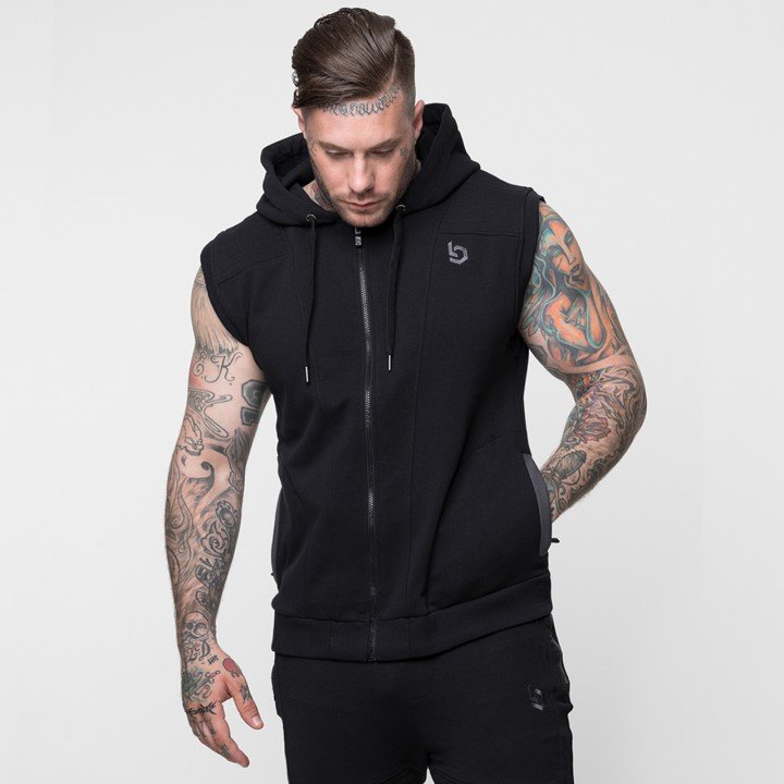 Beyond Limits Imperial Sleeveless Hoodie Schwarz