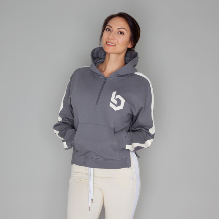 Beyond Limits Ladies Oversize Hoodie Grau