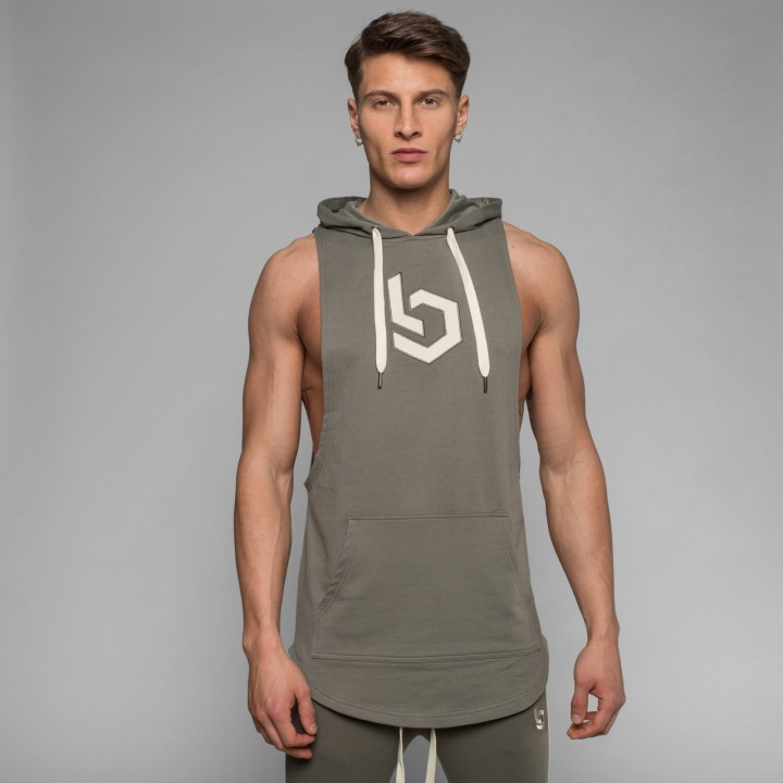 Beyond Limits Sleeveless Breathe Hoodie khaki
