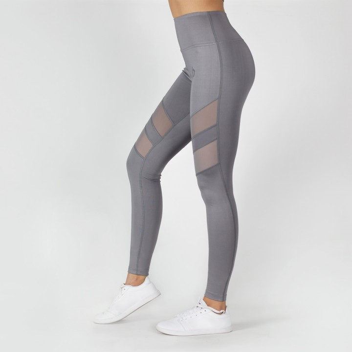 Beyond Limits Super High Waist Mesh Leggings Grau