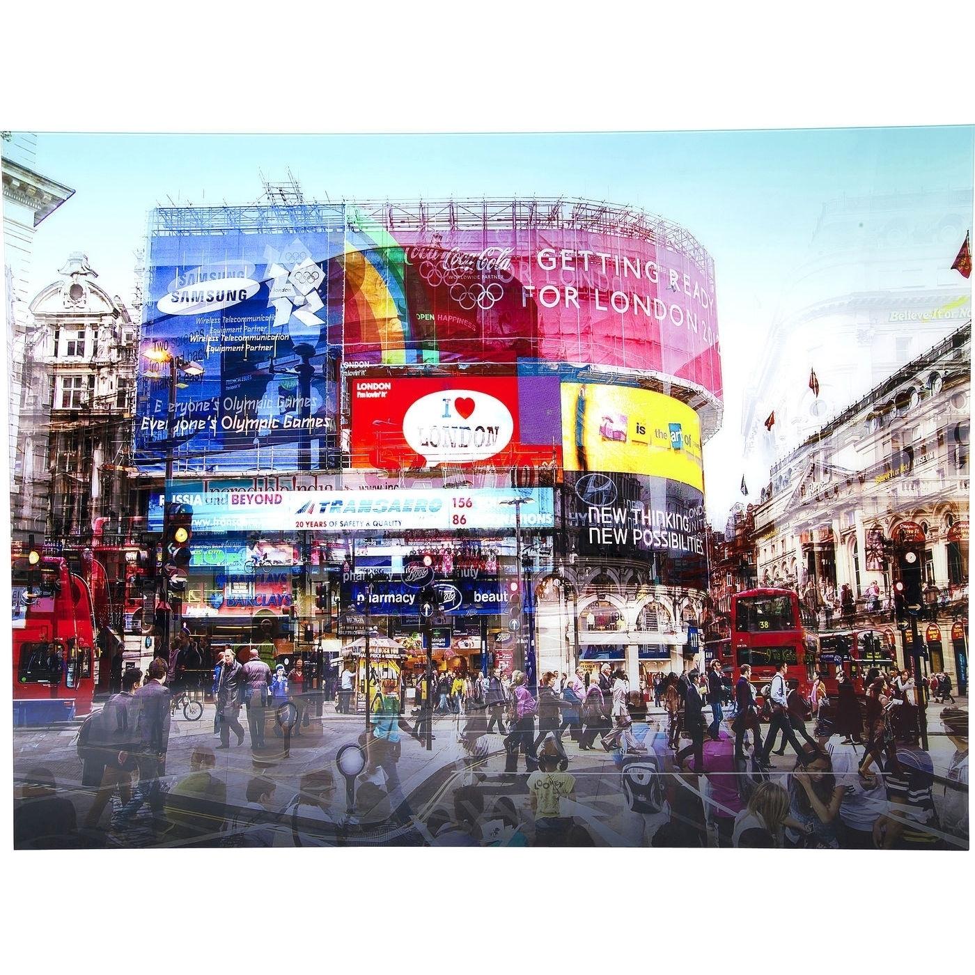 Bild Glas Piccadilly Circus 120x160cm