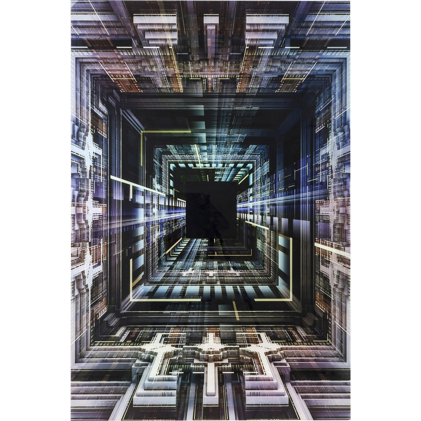 Bild Glas Science Fiction 120x180cm