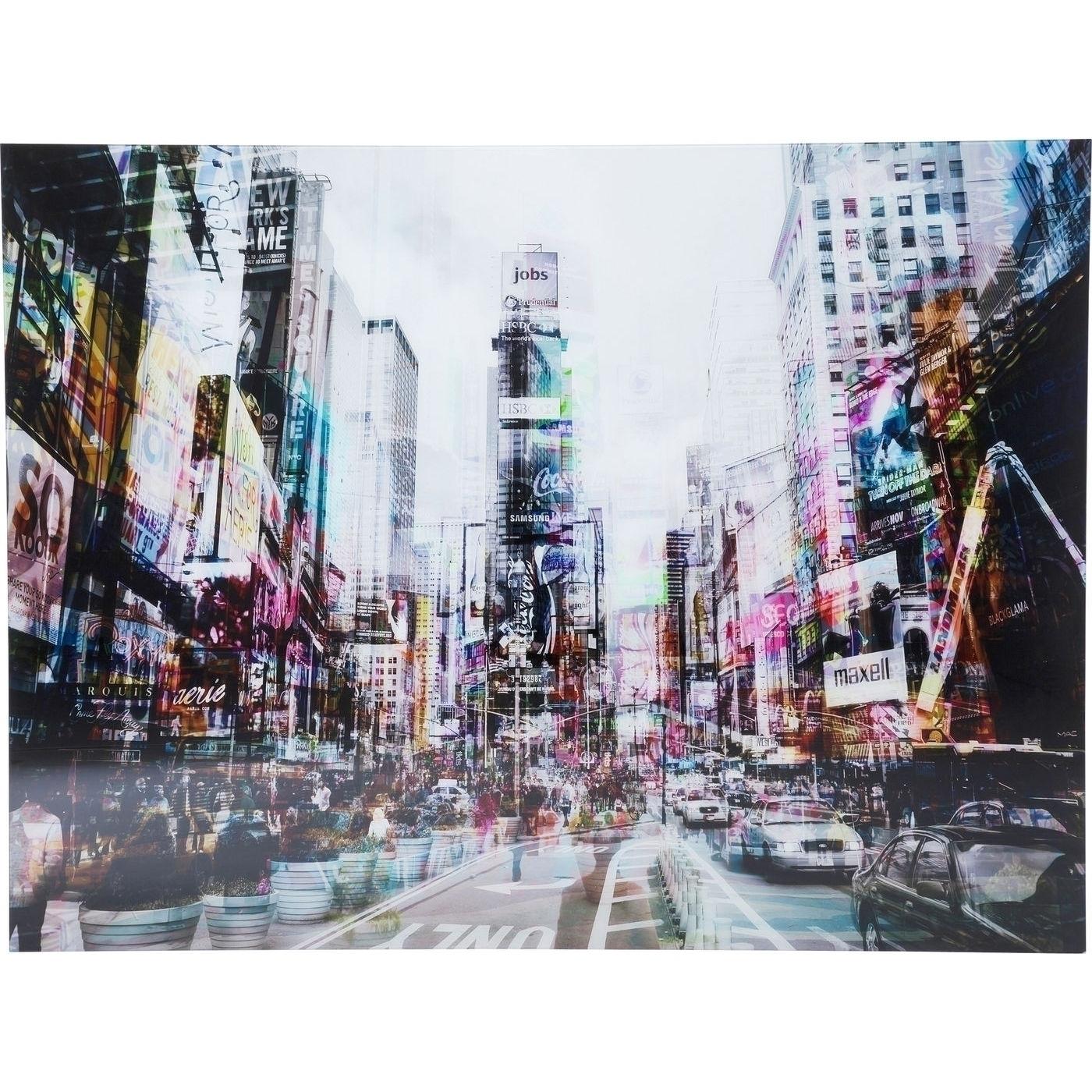 Bild Glas Times Square Move 120x160cm