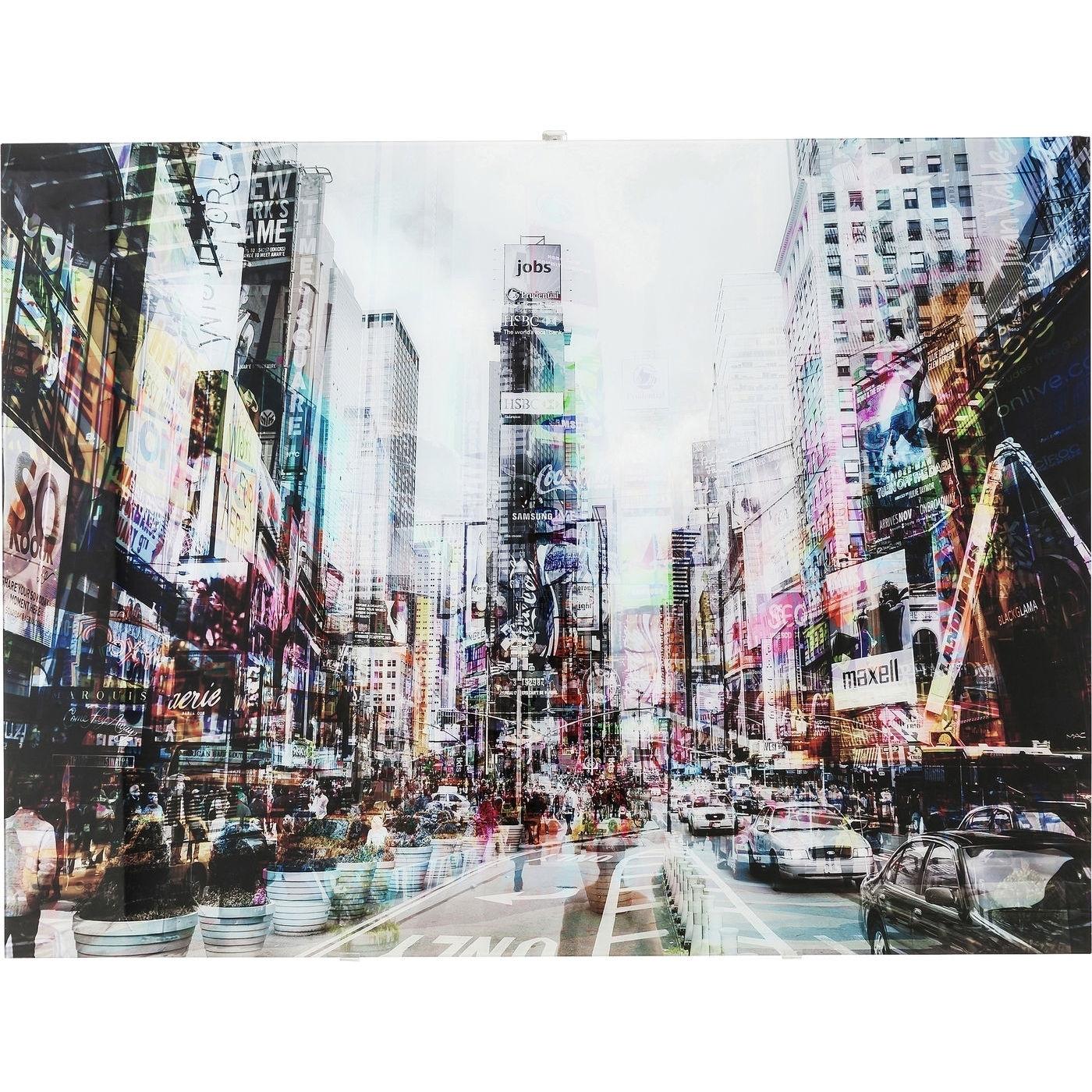 Bild Glas Times Square Move 120x90cm