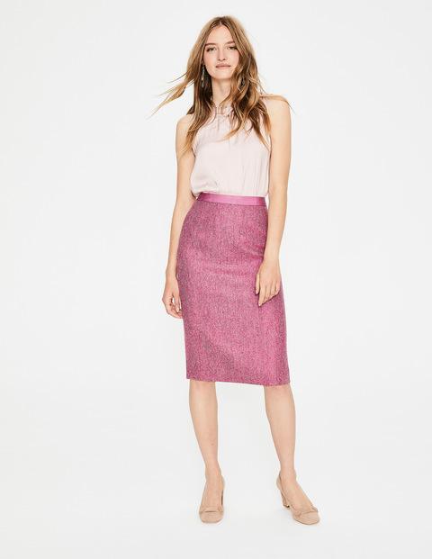 Bleistiftrock aus britischem Tweed Pink Damen Boden, Pink