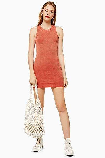 Bodycon-Kleid mit Racerback - Orange