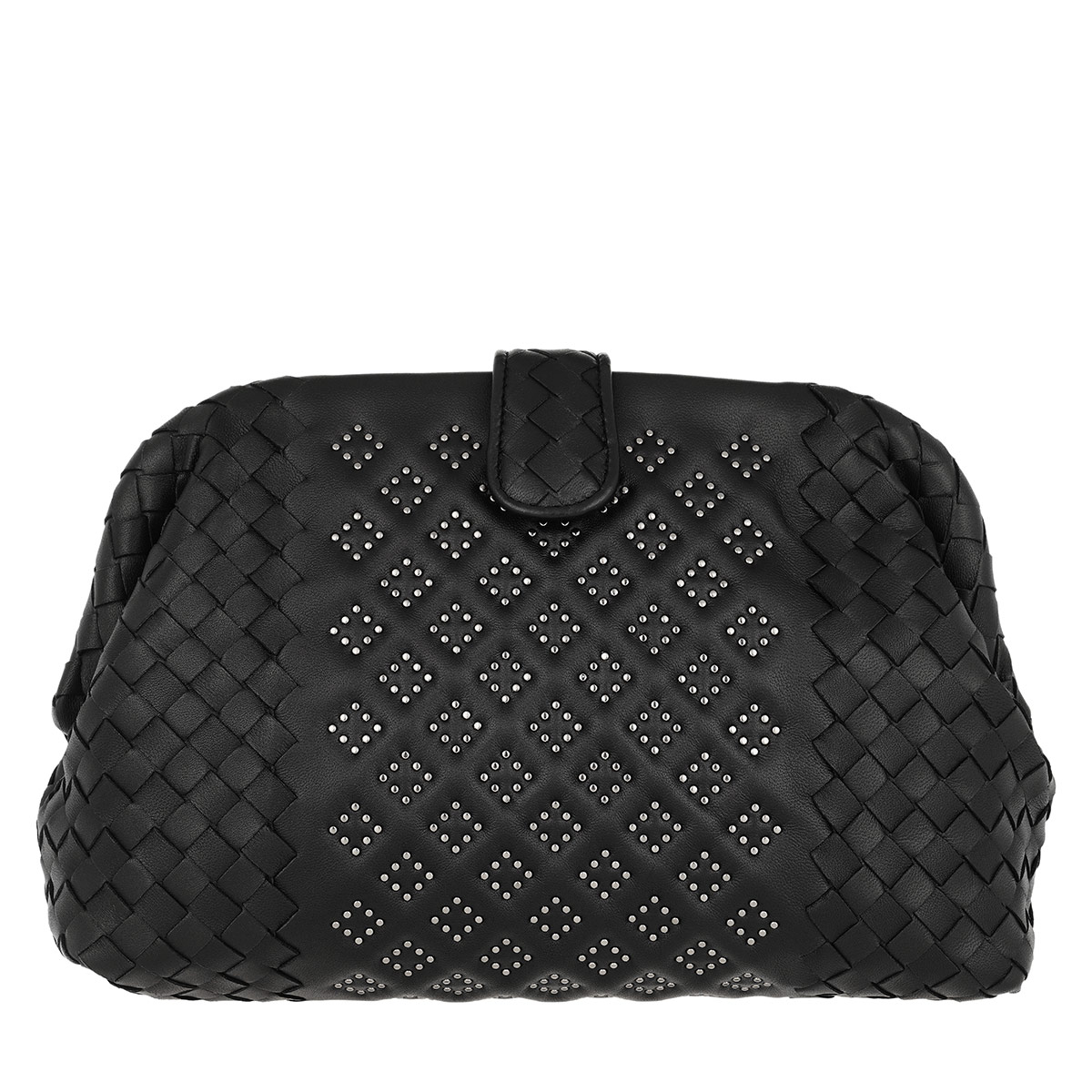 Bottega Veneta Clutch - The Lauren 1980 Micro Studs Nappa Leather Black - in schwarz - für Damen