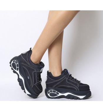 Buffalo 1339-14 2.0 Low Sneaker NAVY WHITE,Schwarz,Weiß,Blau,Naturfarben