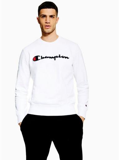 CHAMPION 'Corporate' Sweatshirt, weiß, WEIß