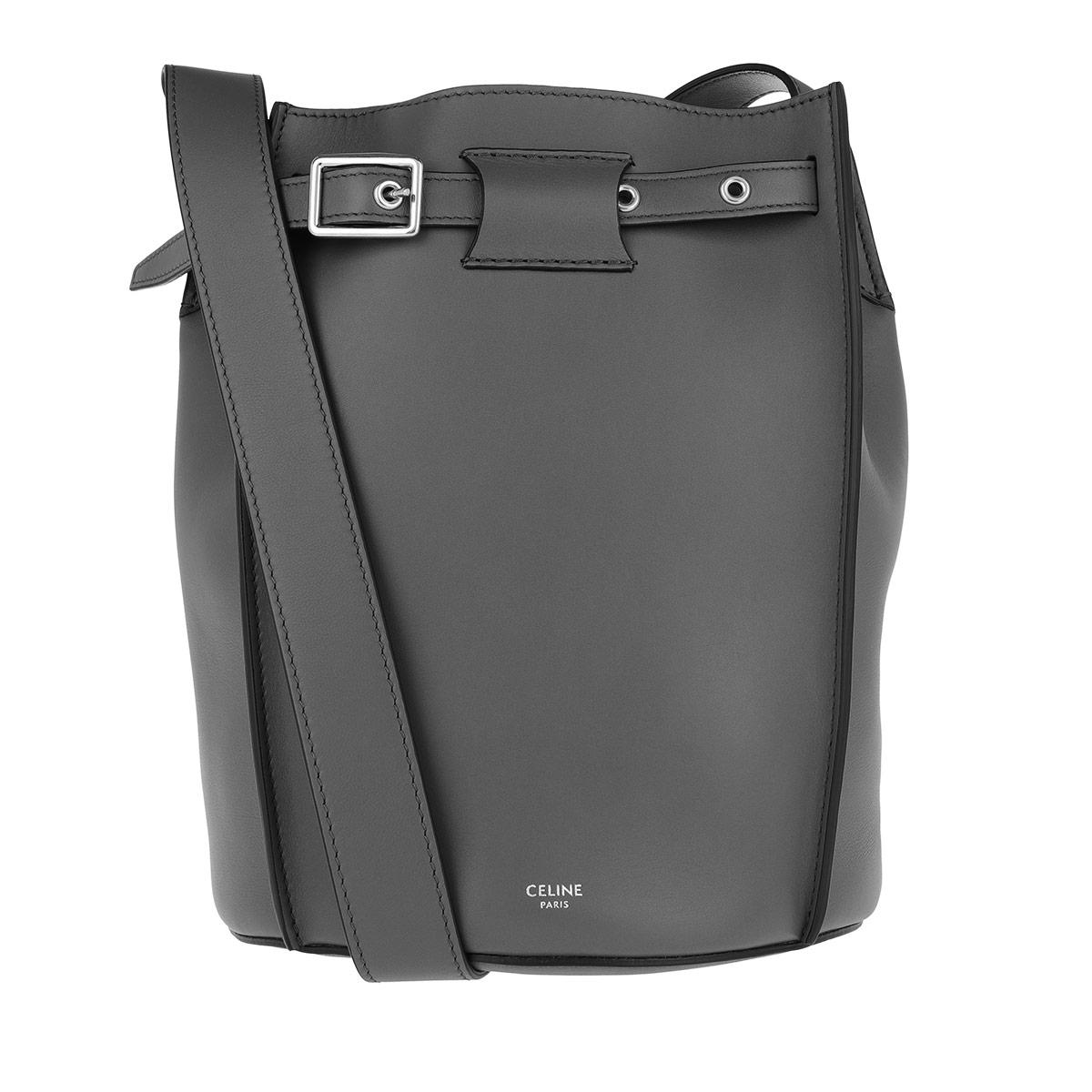 Celine Beuteltasche - Big Bucket Bag Leather Grey - in grau - für Damen