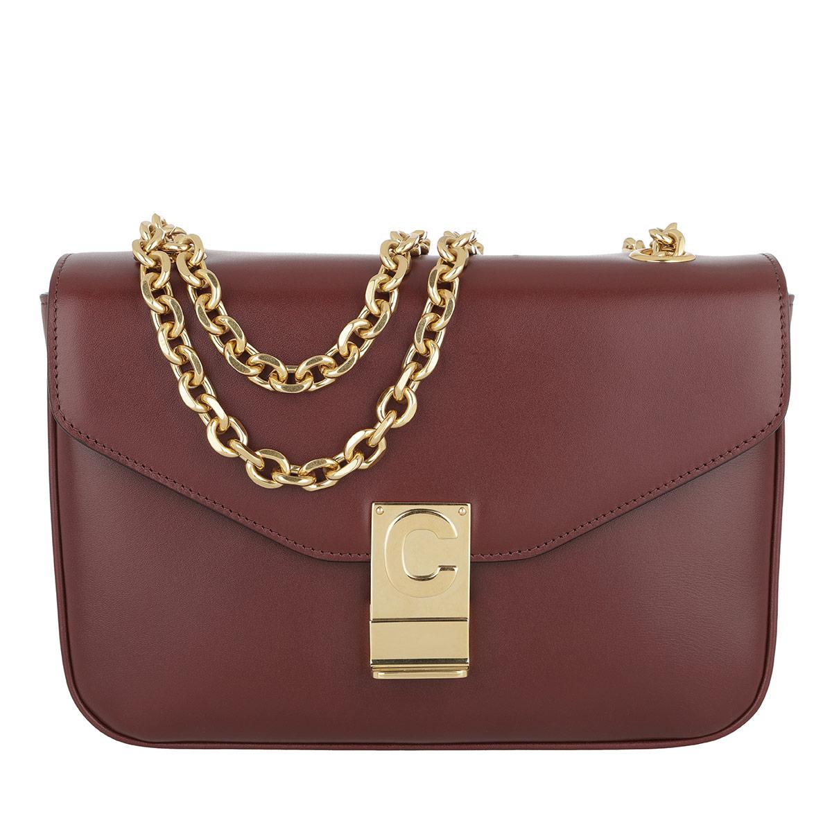 Celine Umhängetasche - C Bag Medium Calfskin Burgundy - in rot - für Damen