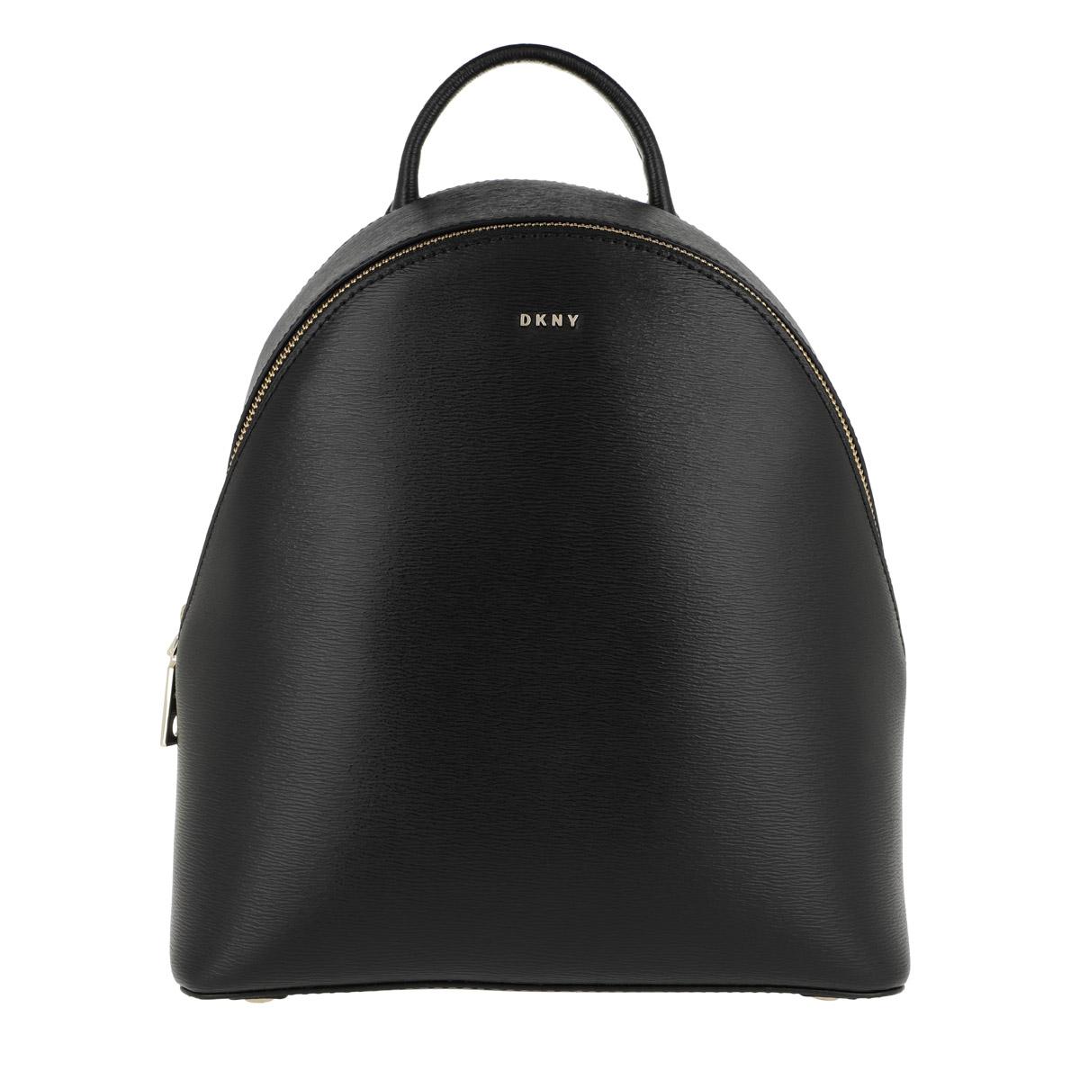 DKNY Rucksack - Bryant Medium Backpack Black/Gold - in schwarz - für Damen