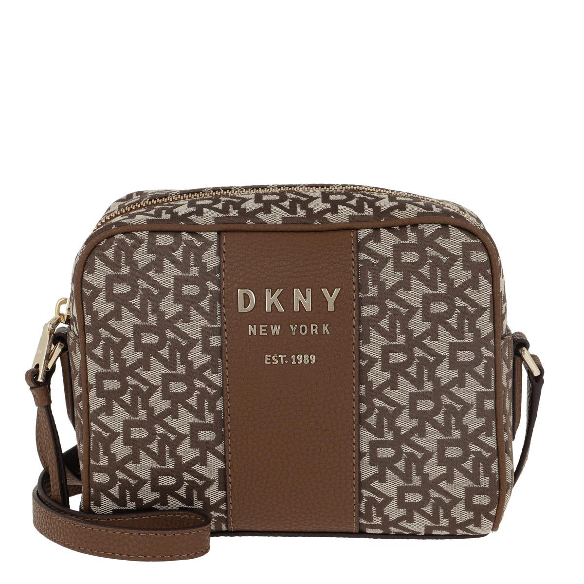 DKNY Umhängetasche - Noho Camera Bag T&C Chino Logo Vicuna - in braun - für Damen