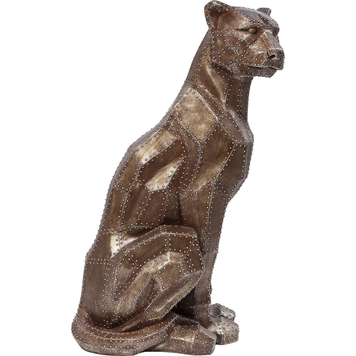 Deko Figur Sitting Cat Rivet Kupfer